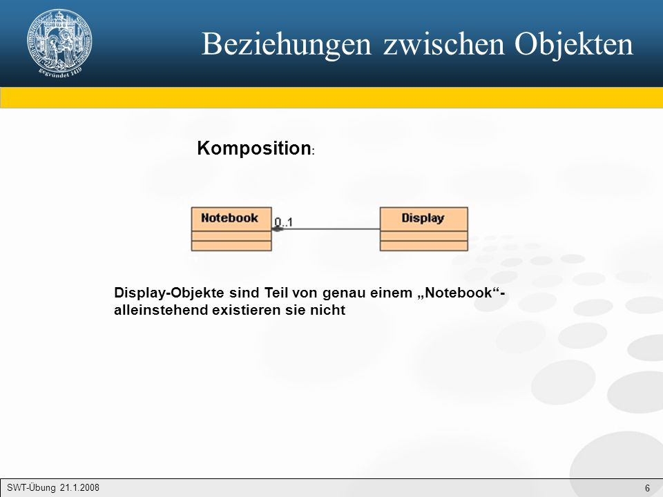 7 Use Case Diagramm SWT-Übung 23.1.2007