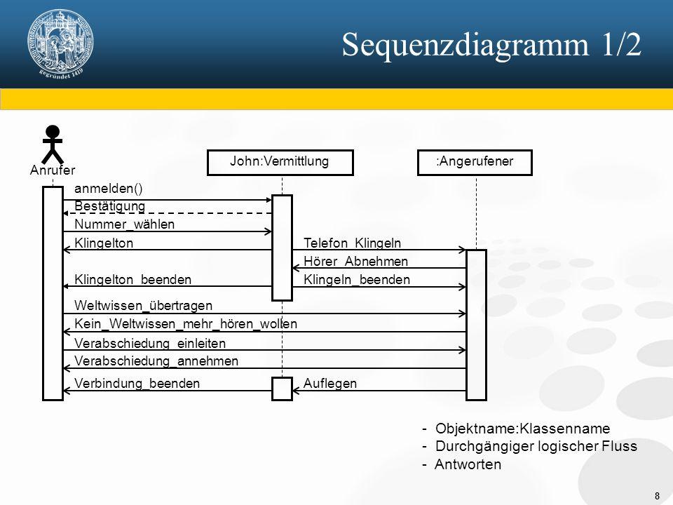 """19 SA/RT 2/2 Realtime-Erweiterung der klassischen SA neben Datenflüssen werden zusätzlich Kontrollflüsse modelliert Kontrollflüsse - steuern die Verarbeitung - sind diskret - nehmen eine endliche Anzahl bekannter Werte an - werden als gestrichelte Linien dargestellt einem Datenflussdiagramm kann eine Kontrollspezifikation überlagert sein - steuert das Systemverhalten auf der jeweiligen Ebene - """"schaltet die Prozesse - durch Zustandsübergangsdiagramm und/oder Entscheidungstabelle (Prozessaktivierungstabelle) beschreibbar dadurch wird das Gesamtmodell zustandsbehaftet"""