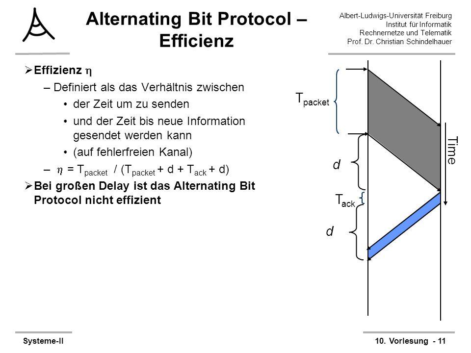 Albert-Ludwigs-Universität Freiburg Institut für Informatik Rechnernetze und Telematik Prof. Dr. Christian Schindelhauer Systeme-II10. Vorlesung - 11