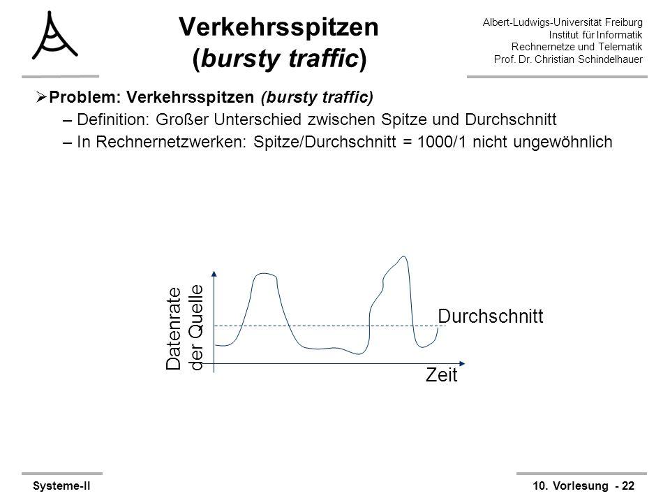 Albert-Ludwigs-Universität Freiburg Institut für Informatik Rechnernetze und Telematik Prof. Dr. Christian Schindelhauer Systeme-II10. Vorlesung - 22