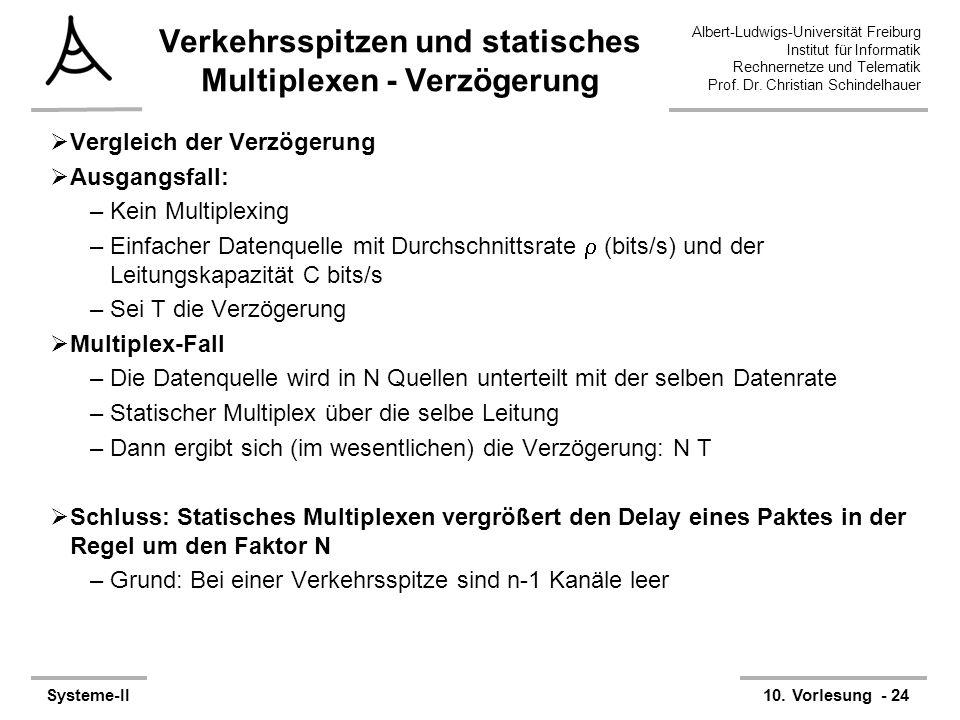 Albert-Ludwigs-Universität Freiburg Institut für Informatik Rechnernetze und Telematik Prof. Dr. Christian Schindelhauer Systeme-II10. Vorlesung - 24