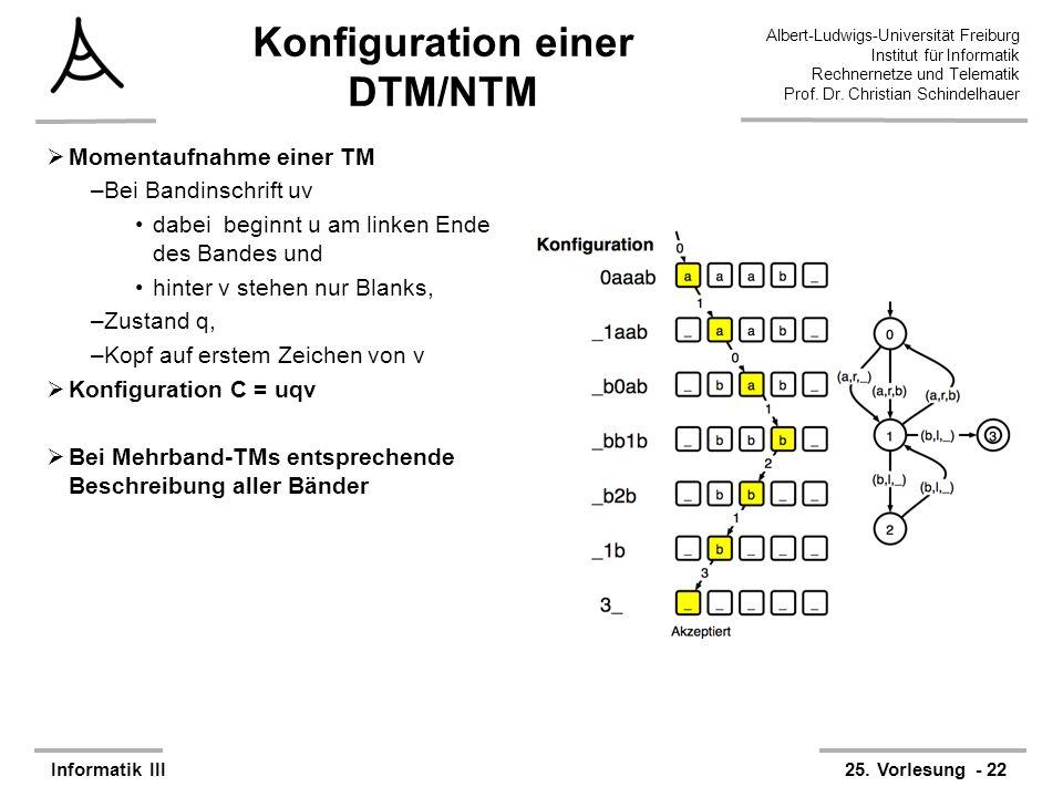 Albert-Ludwigs-Universität Freiburg Institut für Informatik Rechnernetze und Telematik Prof. Dr. Christian Schindelhauer Informatik III25. Vorlesung -