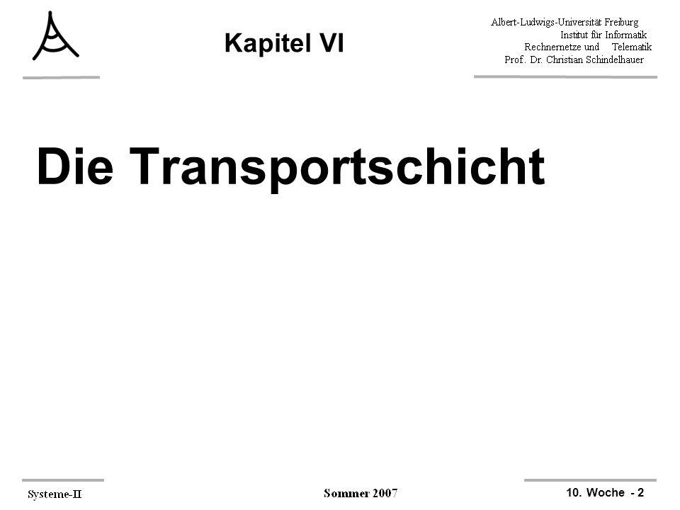 10. Woche - 2 Kapitel VI Die Transportschicht