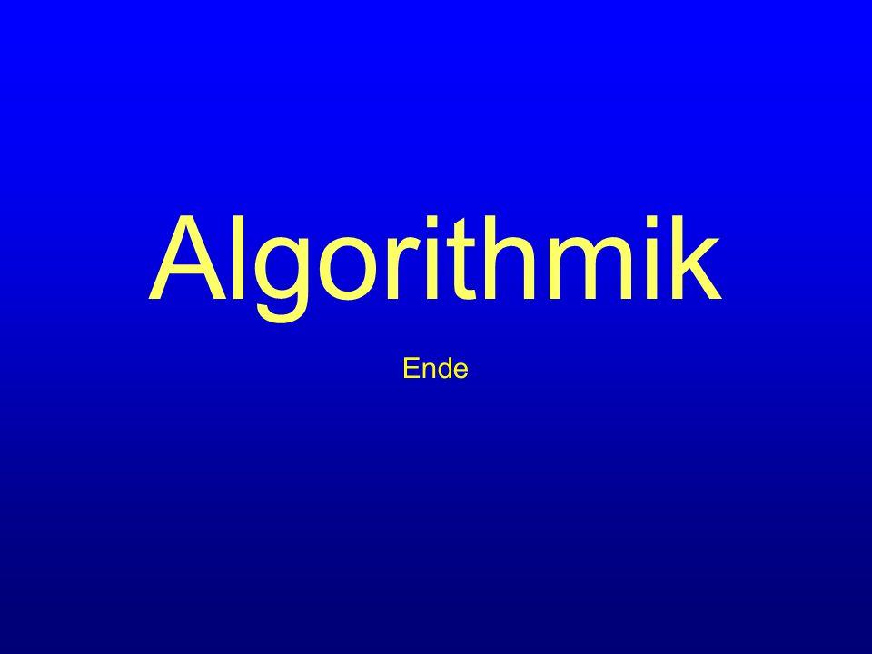 Algorithmik Ende