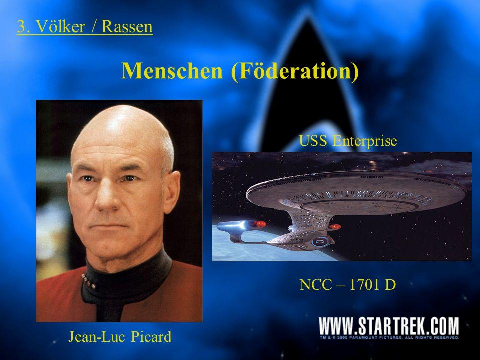 "3. Völker / Rassen Cardassianer + Bajoraner Dominion (Formwandler / Jem'Hadar) Ferengi ""Q"" + ""Q"" – Kontinuum Spezies 8472 Kazon"