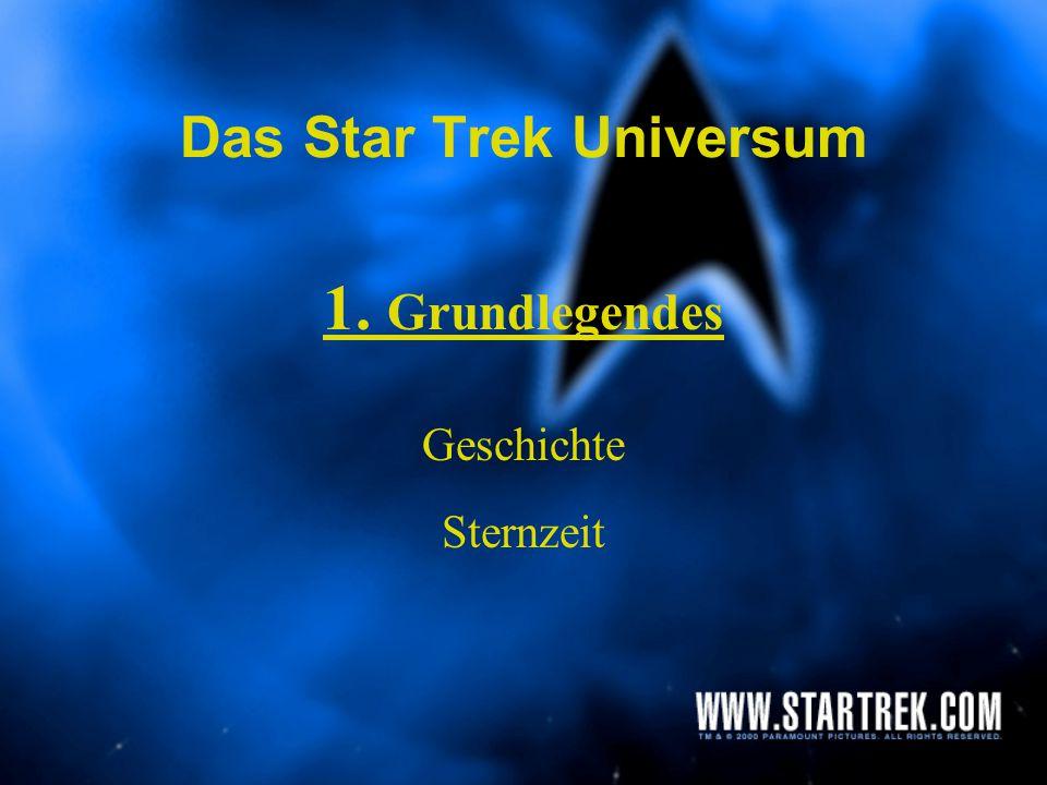 Das Star Trek Universum 1.Grundlegendes 2.Technologie 3.Völker / Rassen 4.Das politische System der Föderation