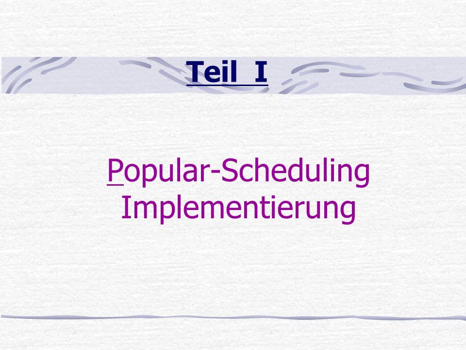Teil III Andere Thread-Scheduling Methoden