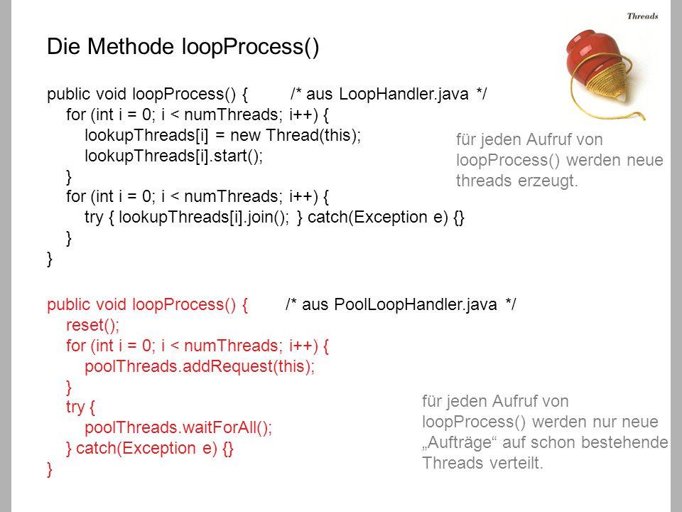 Skalierbarkeit der Inner Loop Handler: 1.Wert: 100 Zeilen, 5000 Spalten 2.