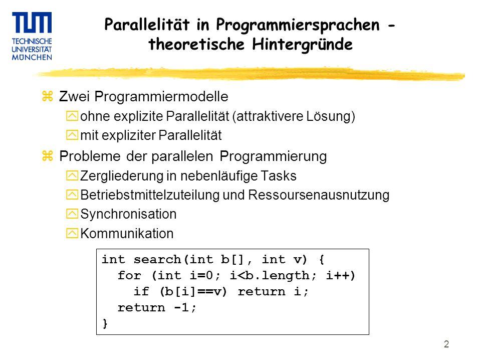 13 Mutex Mapping zSimples Spar Programm c.init(); foreach (i=0:n){ a[i]=compute(b[i]); c =reduce(c,a[i]); } zWechselseitiger Ausschluss c.init(); foreach (i=0:n){ a[i]=compute(b[i]); c =reduce(c,a[i]); } foreach reduce(0) reduce(n-1) compute(0) compute(n-1) @m1