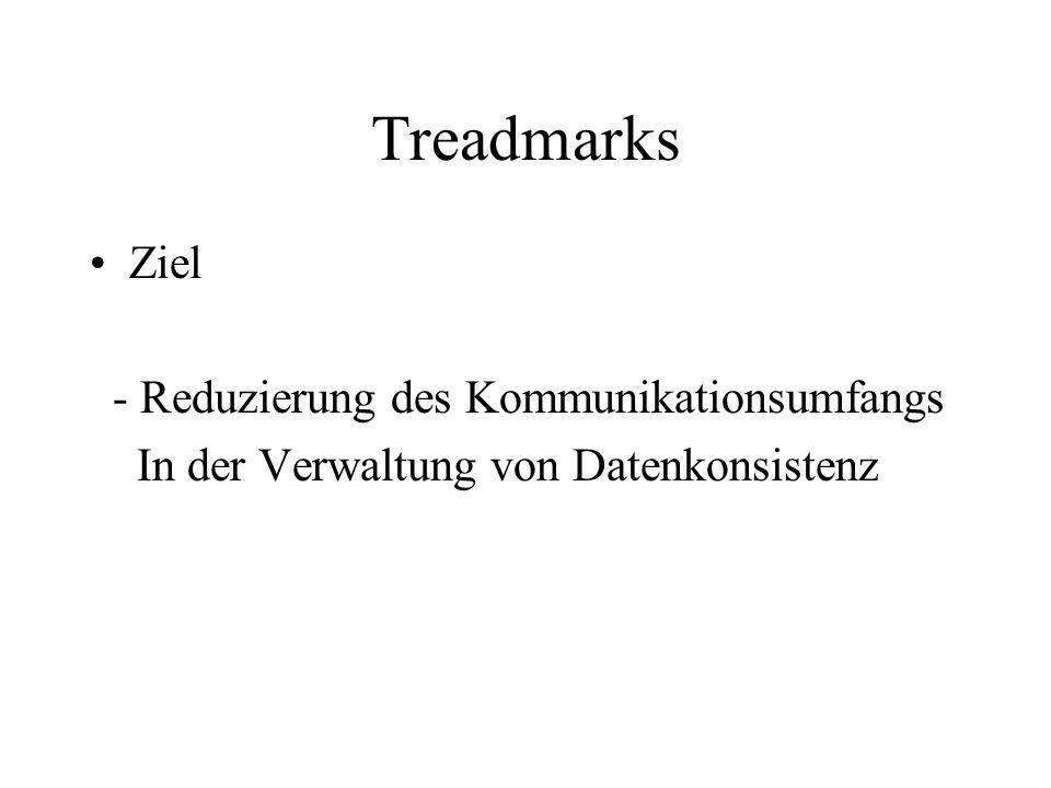 Treadmarks Ziel - Reduzierung des Kommunikationsumfangs In der Verwaltung von Datenkonsistenz