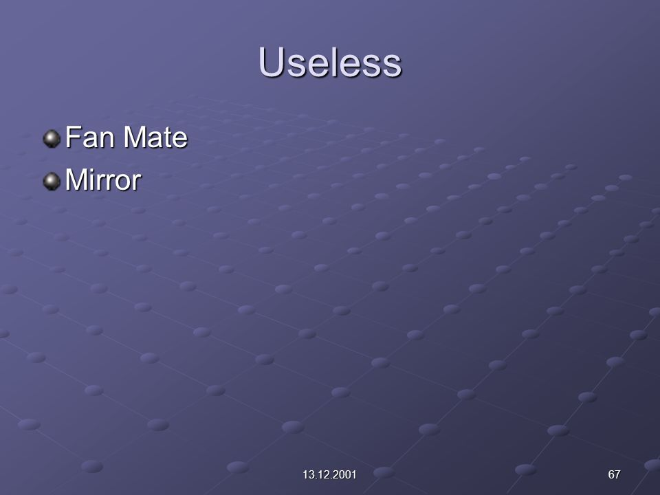 6713.12.2001 Useless Fan Mate Mirror