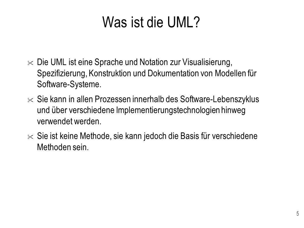 5 Was ist die UML?