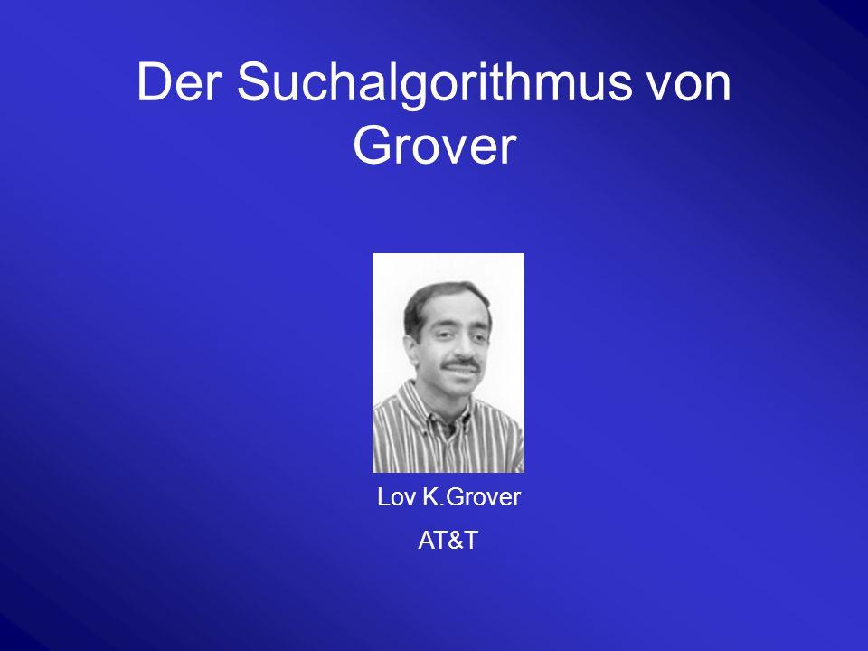 Der Suchalgorithmus von Grover Lov K.Grover AT&T