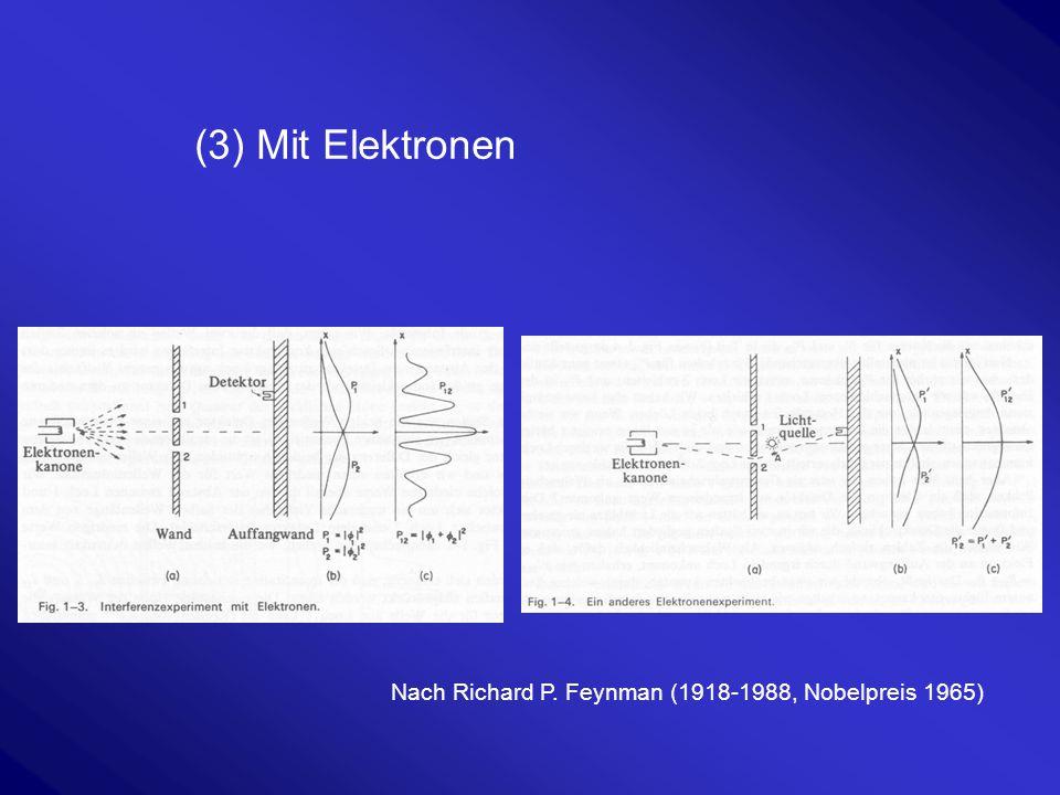 """EPR-Paradox Einstein-Podolsky-Rosen Paradox Entanglement (=Verschränkung) Einstein: """"Gott würfelt nicht Beispiel an zwei Elektronen: Spin=0 Spin nach oben Spin nach unten 1/2 -1/2"""