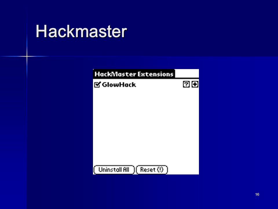 16 Hackmaster