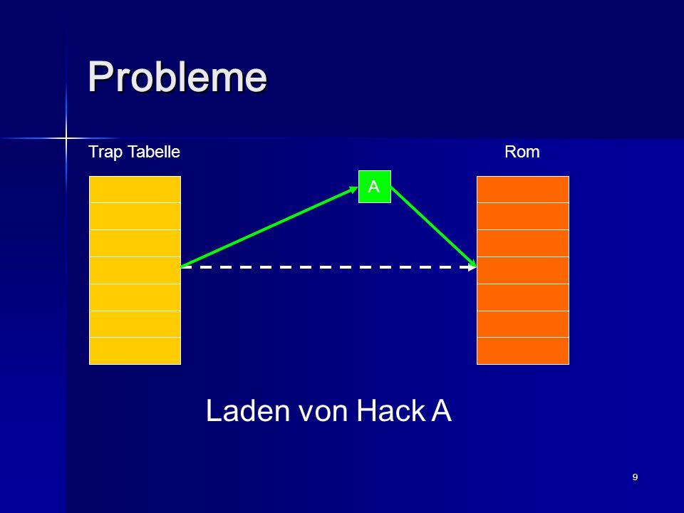 10 Probleme Trap TabelleRom AB Laden von Hack B
