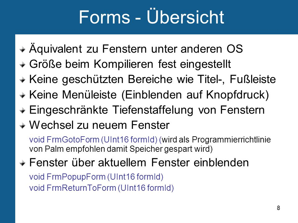 9 Forms - Ressource Ressourcenskript: #include Schiffe.h ...