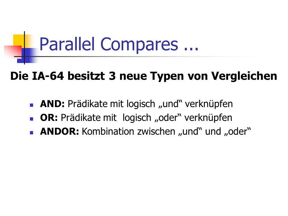 Parallel Compares...