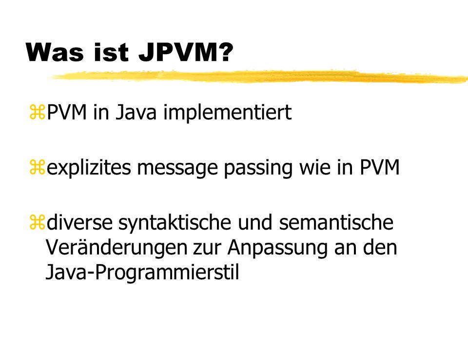 Was ist JPVM.
