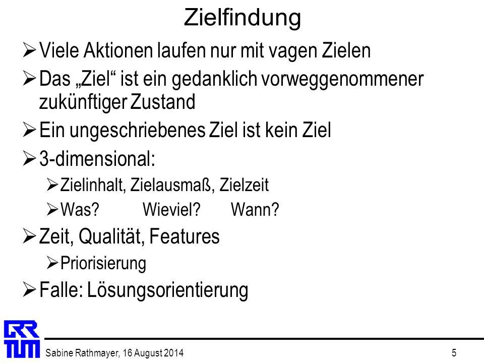 Sabine Rathmayer, 16 August 201416 Netzplan