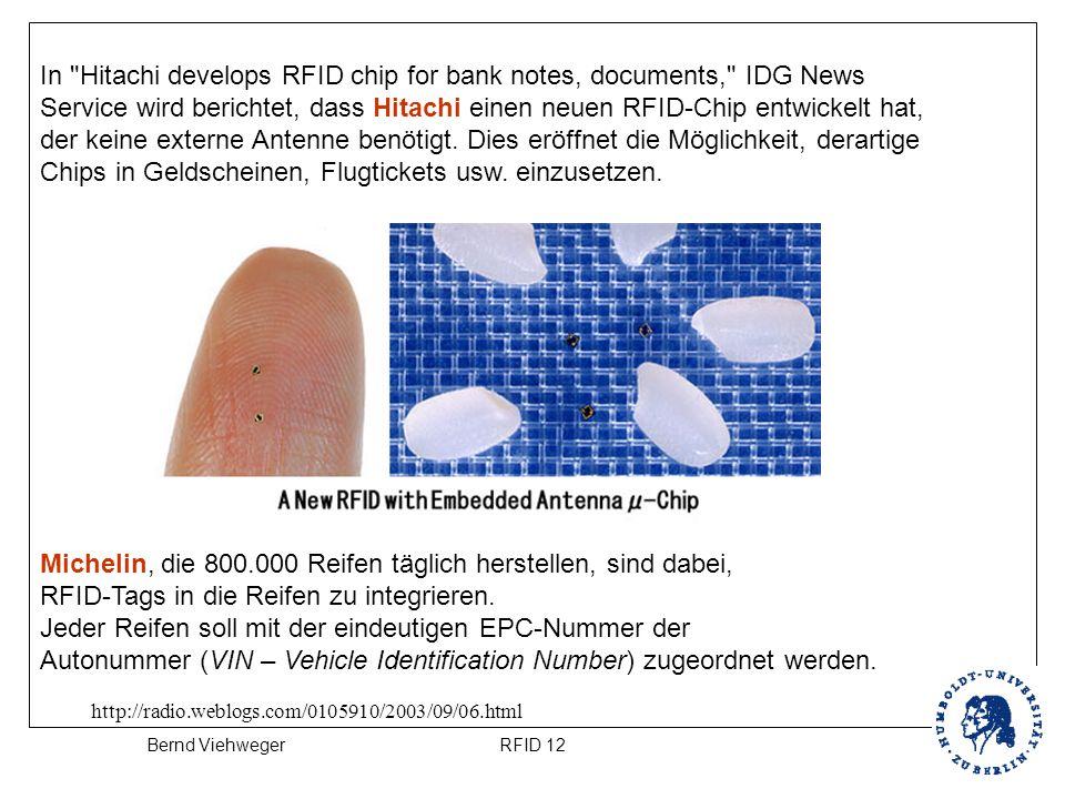 RFID 12Bernd Viehweger http://radio.weblogs.com/0105910/2003/09/06.html In