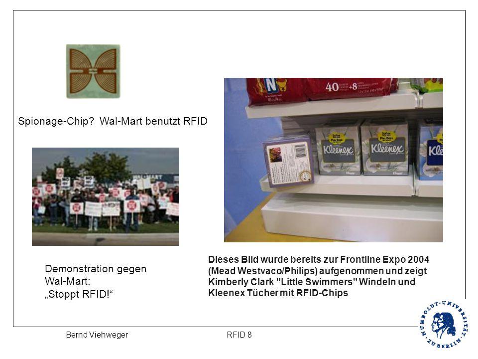 """RFID 8Bernd Viehweger Spionage-Chip? Wal-Mart benutzt RFID Demonstration gegen Wal-Mart: """"Stoppt RFID!"""" Dieses Bild wurde bereits zur Frontline Expo 2"""