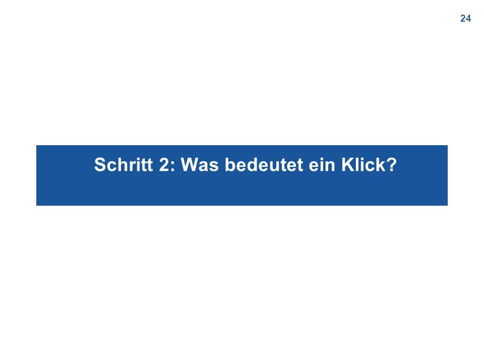 24 Schritt 2: Was bedeutet ein Klick