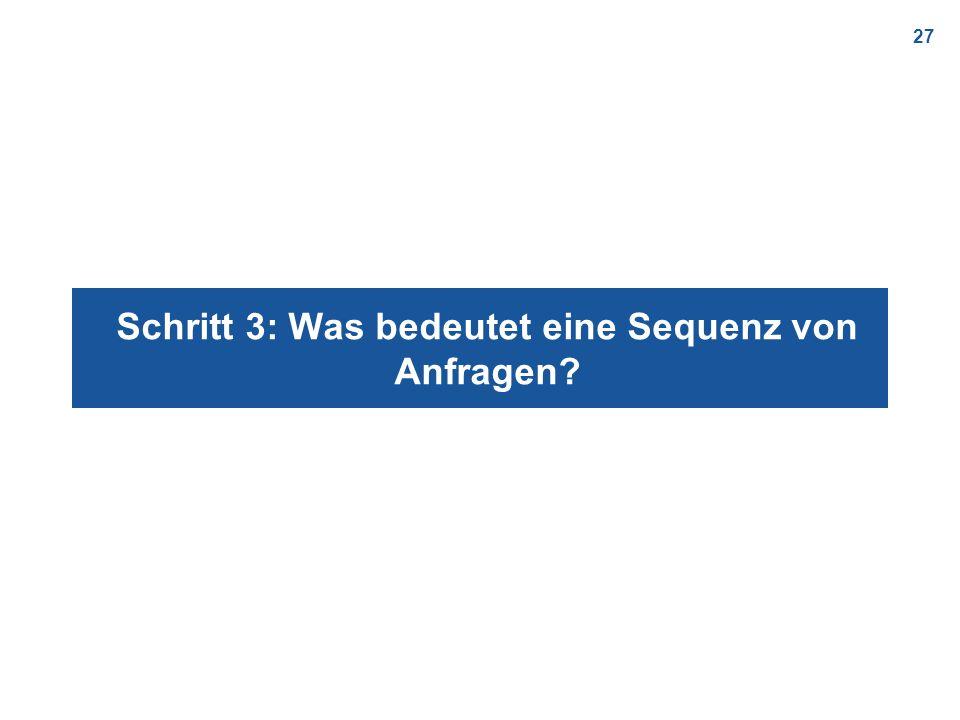 27 Schritt 3: Was bedeutet eine Sequenz von Anfragen?