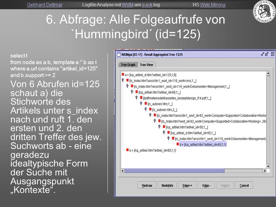 Gebhard DettmarGebhard DettmarLogfile Analyse mit WUM am c-o-k.logHS Web MiningWUMc-o-kWeb Mining 20 6.