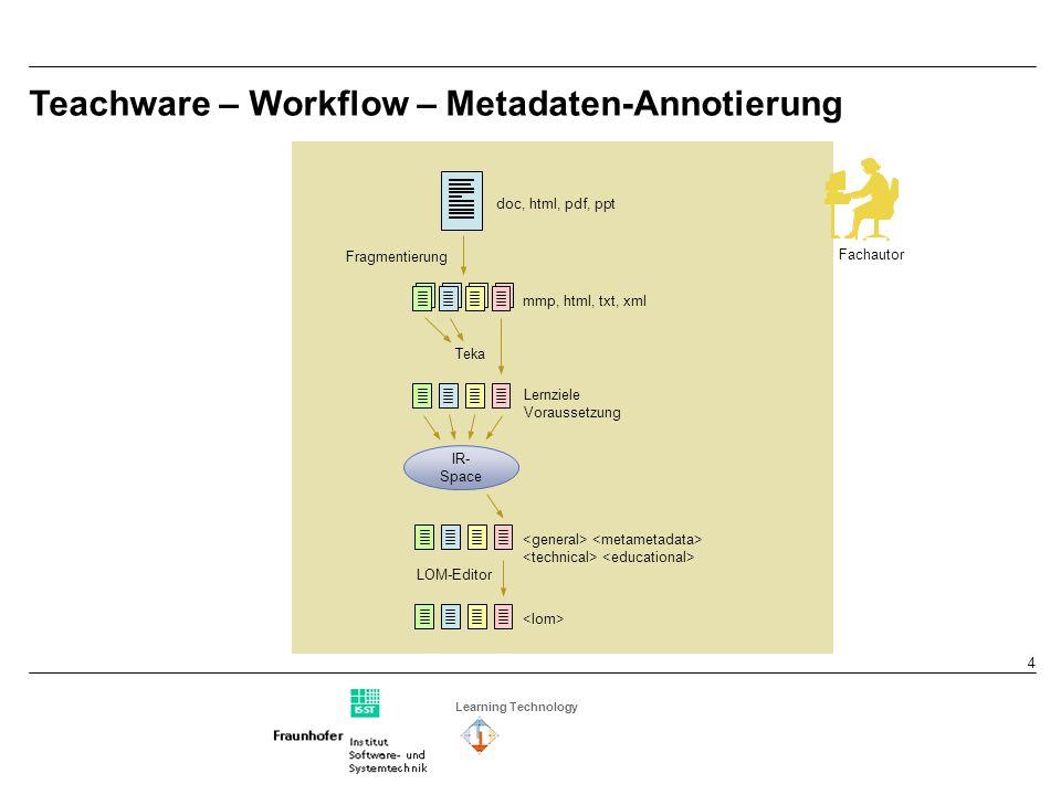Learning Technology 5 Teachware on Demand – Generieren von Lernmaterialien