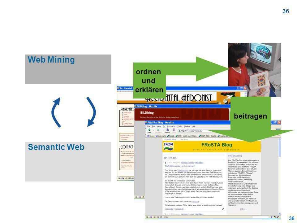 36 Web Mining Semantic Web ordnen und erklären beitragen