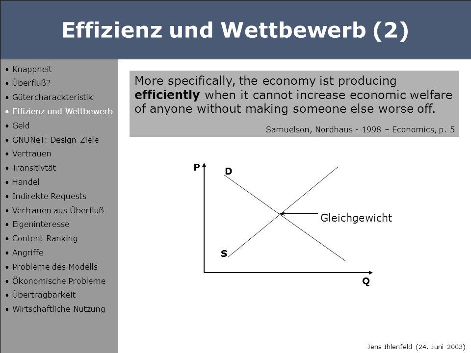Wohlfahrtsverlust (2) D P Q P0P0 c Jens Ihlenfeld (24.
