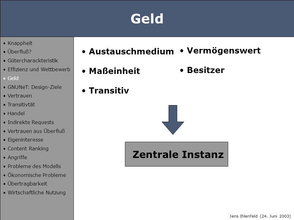 GNUNeT: Design-Ziele Anonymität Deniability Dezentralität Jens Ihlenfeld (24.
