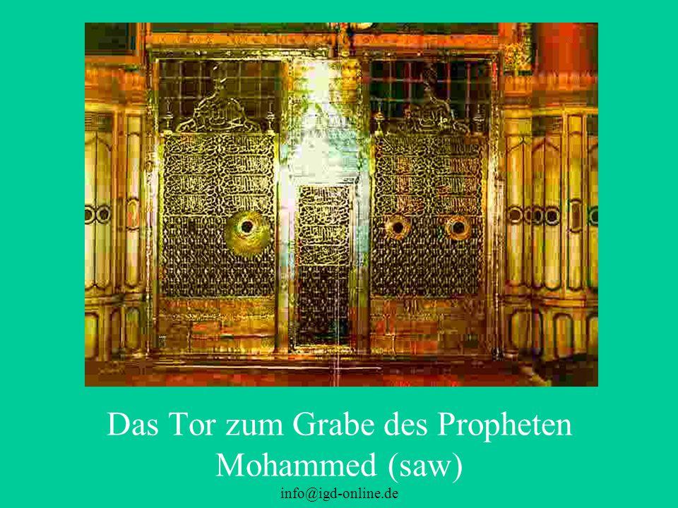 info@igd-online.de Das Tor zum Grabe des Propheten Mohammed (saw)