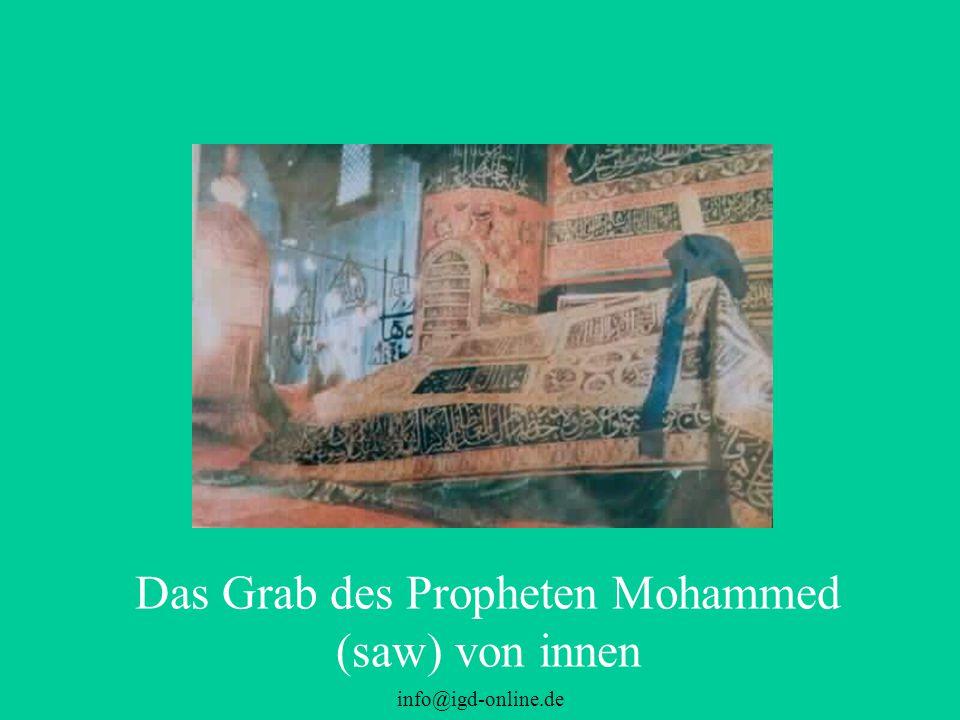 info@igd-online.de Das Grab des Propheten Mohammed (saw) von innen