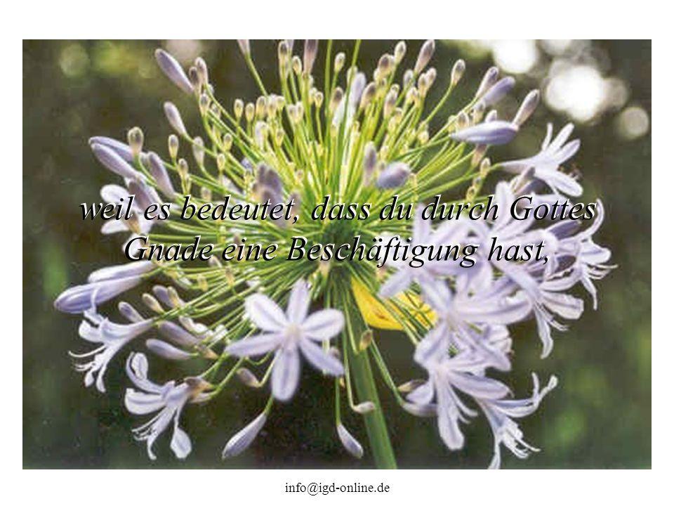 info@igd-online.de weil es bedeutet, dass du durch Gottes Gnade eine Beschäftigung hast,