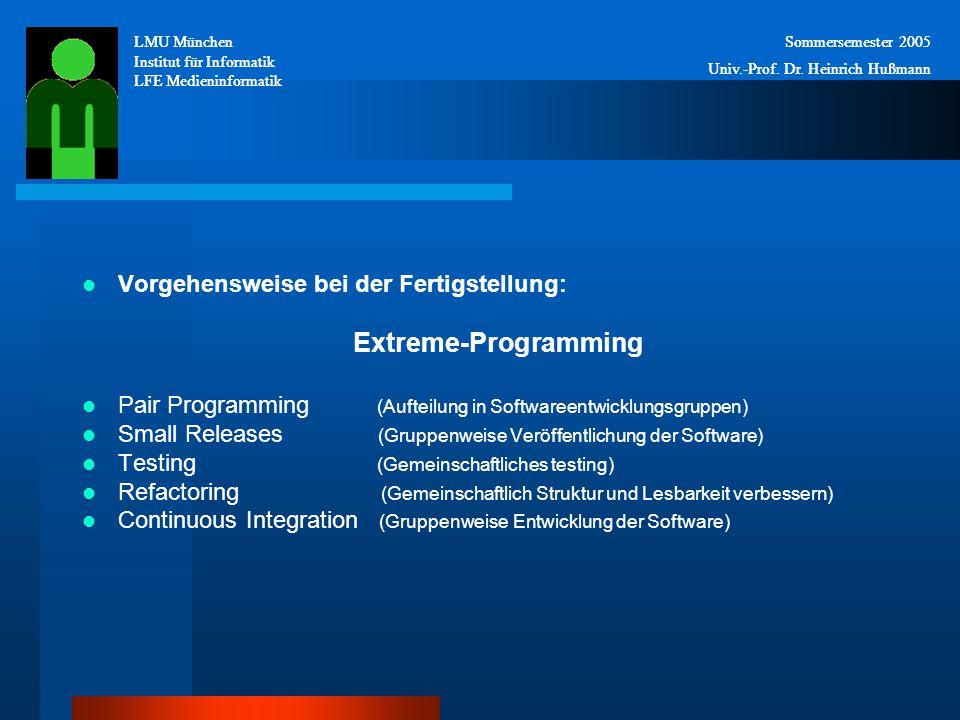 LMU München Institut für Informatik LFE Medieninformatik Sommersemester 2005 Univ.-Prof.
