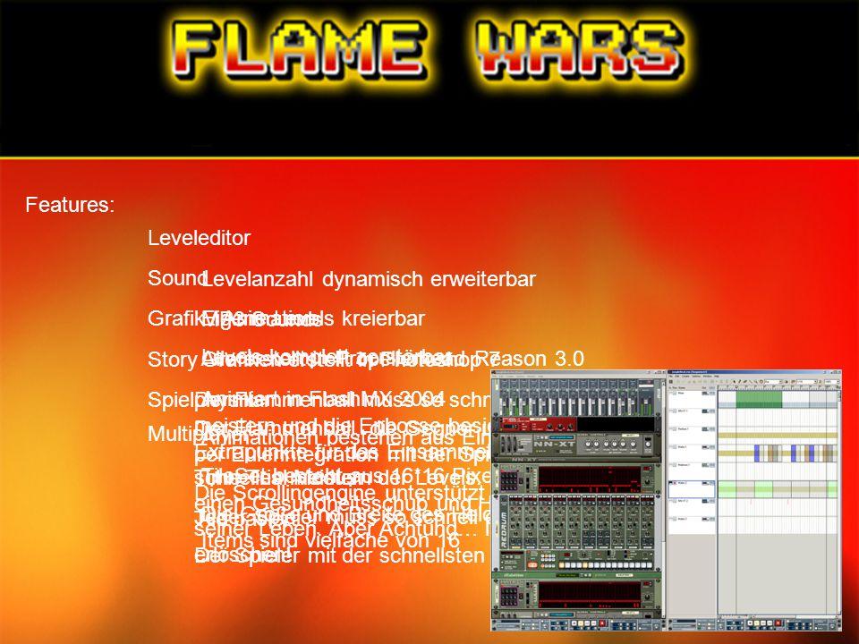 Features: Leveleditor Levelanzahl dynamisch erweiterbar Eigene Levels kreierbar Levels komplett zerstörbar Sound MP3 Sounds Alle erstellt in Propeller