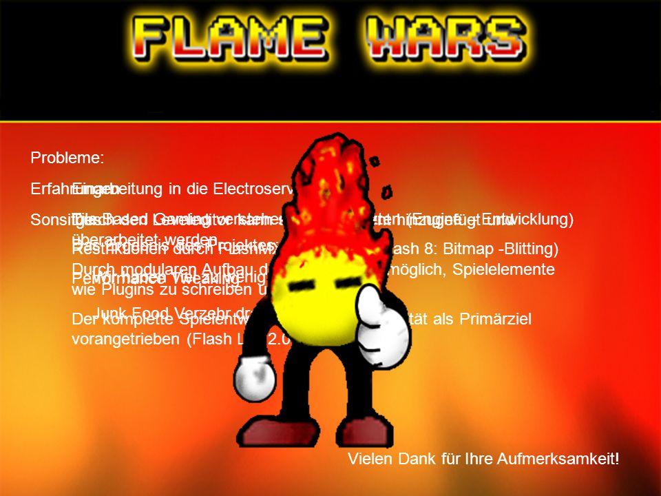 Probleme: Einarbeitung in die Electroserver - API Tile Based Gaming verstehen und umsetzten (Engine – Entwicklung) Restriktionen durch FlashMX 2004 (s