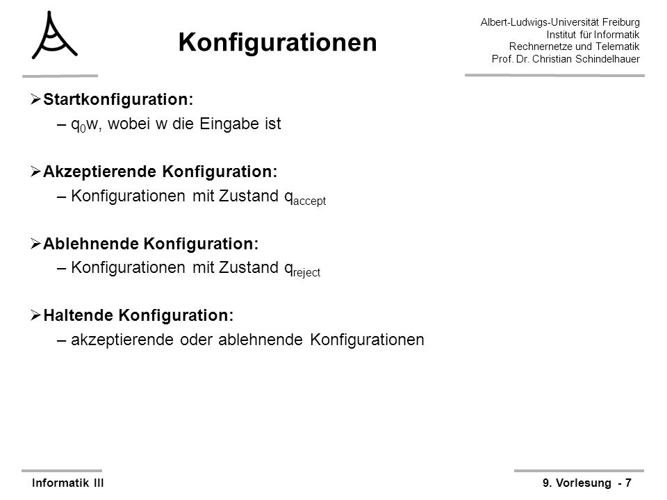 38 Albert-Ludwigs-Universität Freiburg Rechnernetze und Telematik Prof.