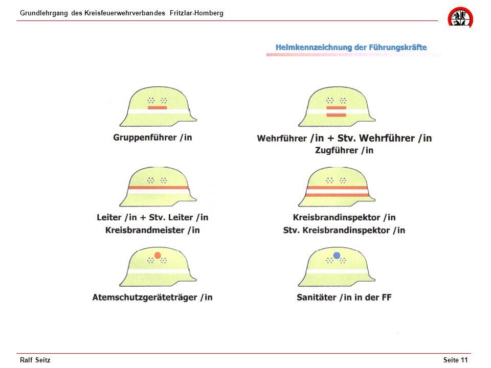 Grundlehrgang des Kreisfeuerwehrverbandes Fritzlar-Homberg Seite 11Ralf Seitz
