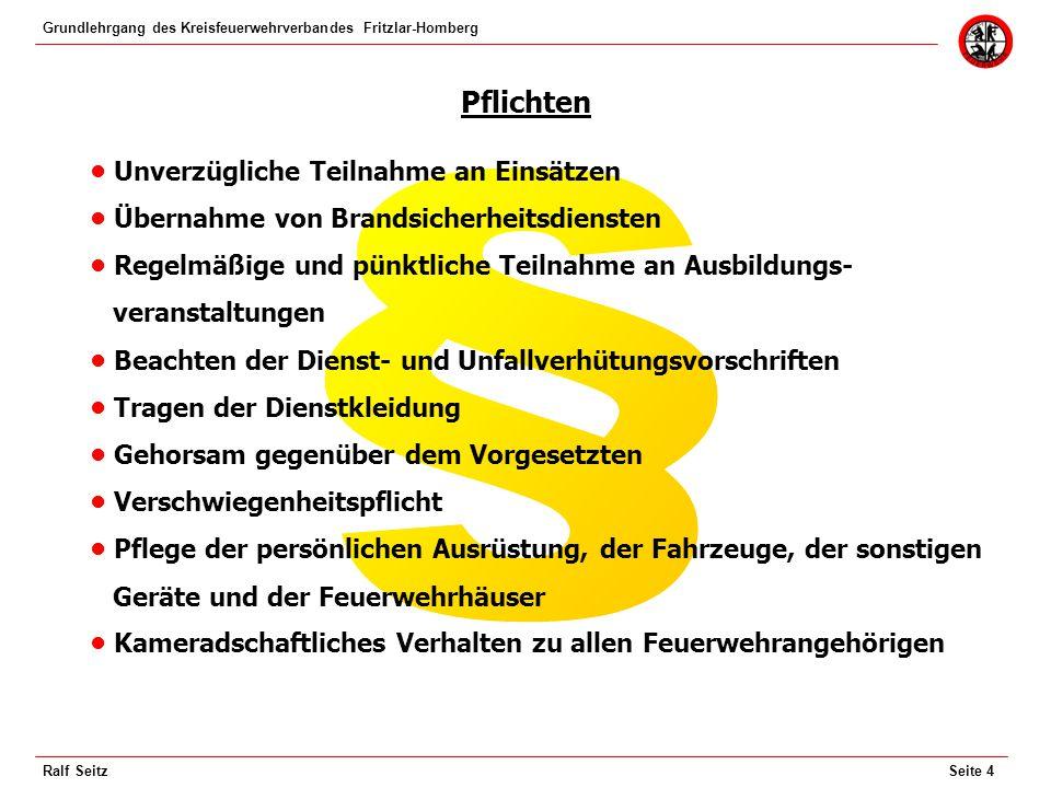 Grundlehrgang des Kreisfeuerwehrverbandes Fritzlar-Homberg Seite 5Ralf Seitz