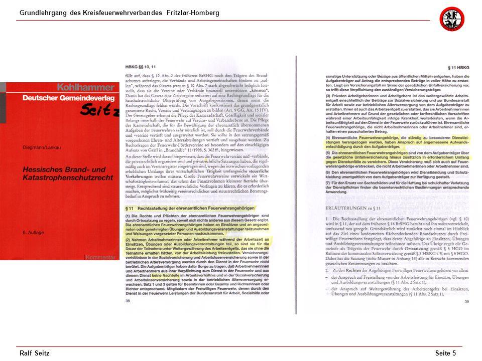 Grundlehrgang des Kreisfeuerwehrverbandes Fritzlar-Homberg Seite 6Ralf Seitz