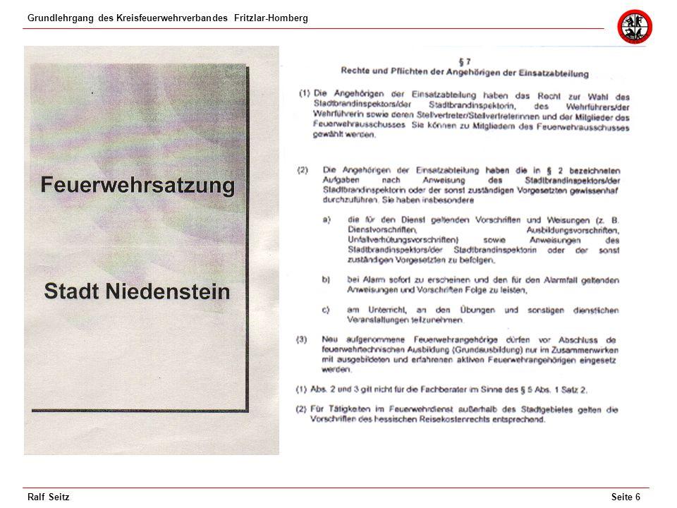 Grundlehrgang des Kreisfeuerwehrverbandes Fritzlar-Homberg Seite 7Ralf Seitz