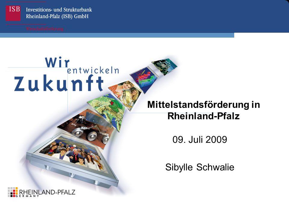 Mittelstandsförderung in Rheinland-Pfalz 09. Juli 2009 Sibylle Schwalie
