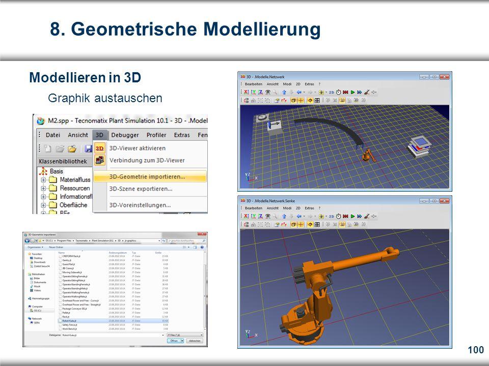 100  Graphik austauschen 8. Geometrische Modellierung Modellieren in 3D