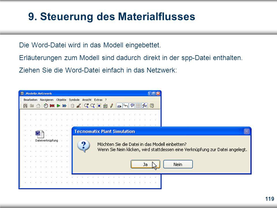 119 Die Word-Datei wird in das Modell eingebettet.
