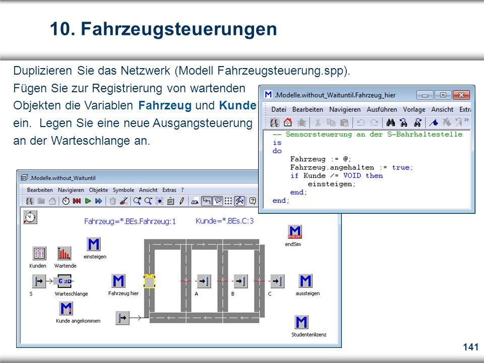 141 Duplizieren Sie das Netzwerk (Modell Fahrzeugsteuerung.spp).
