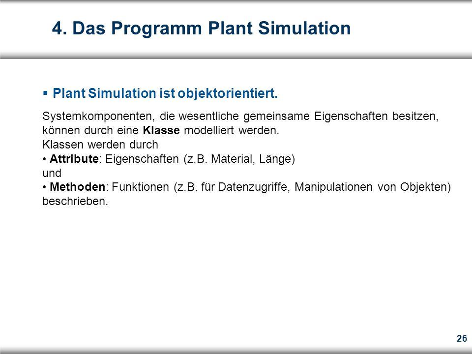 26  Plant Simulation ist objektorientiert.