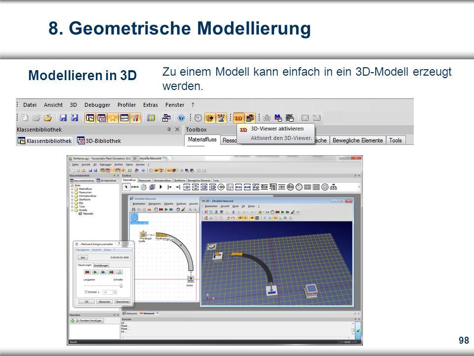 98  Zu einem Modell kann einfach in ein 3D-Modell erzeugt werden.